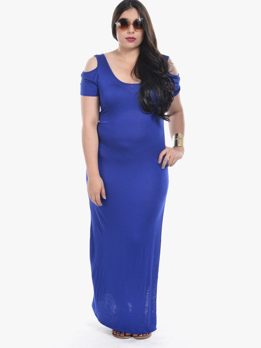 Try a navy blue lace dress, a fitted navy blue long sleeve dress, or a wrap-style navy maxi dress to go from office hours to happy hour! A navy blue formal dress, like a .