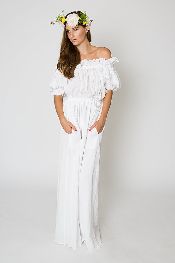 Long White Maxi Dress Dressed Up Girl