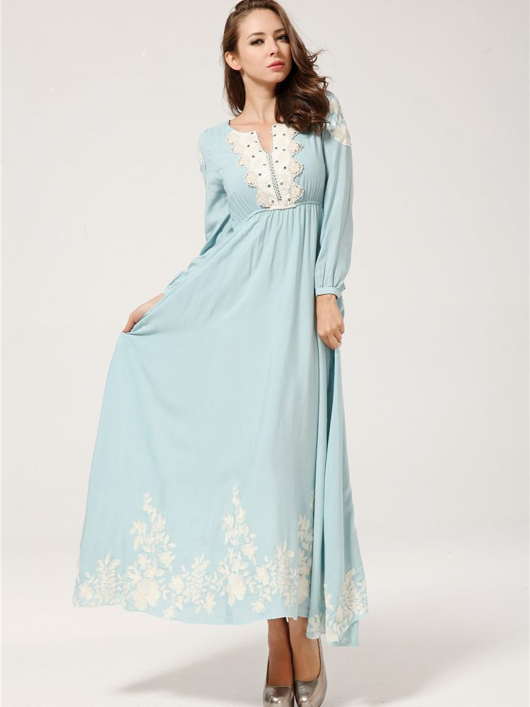 Maxi Dress With Long Sleeves
