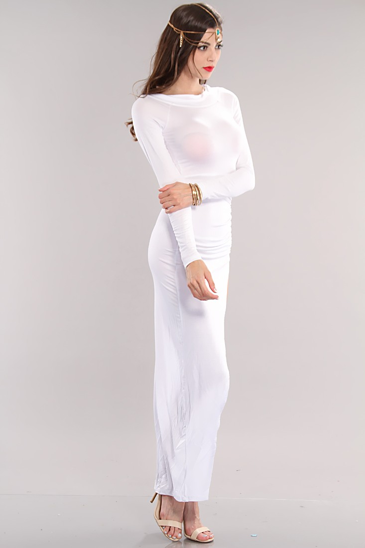 Simple long sleeve maxi dress