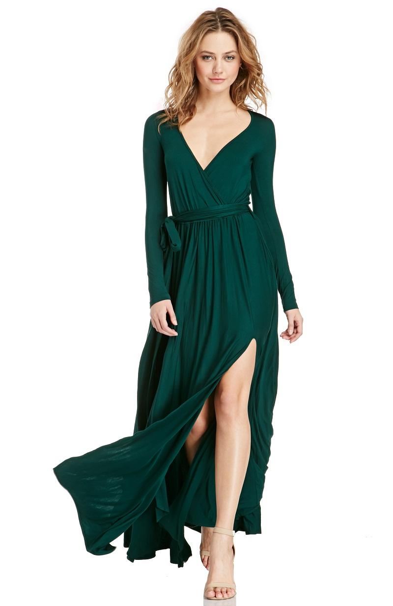 Long Sleeve Maxi Dress | DressedUpGirl.com