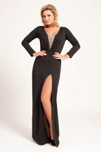 Long Sleeved Black Maxi Dress