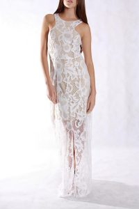 Long White Lace Maxi Dress