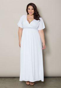 Long White Maxi Dresses Plus Size