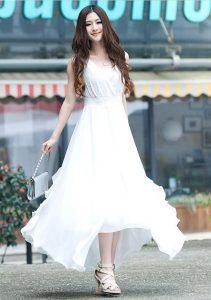 Long White Summer Maxi Dress