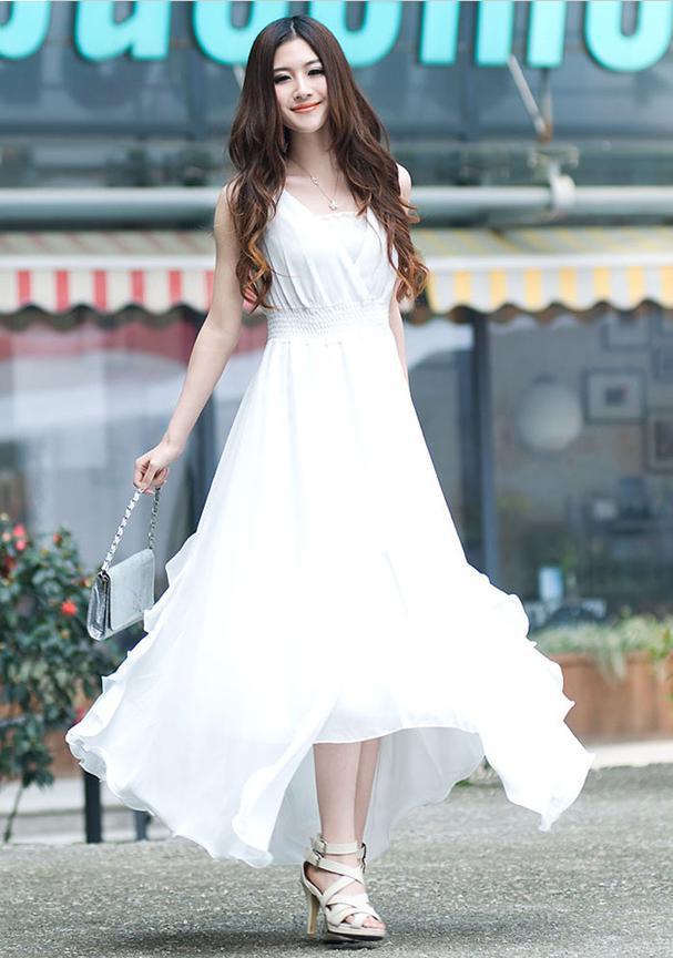 Long White Maxi Dress Dressed Up Girl