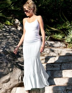 Maternity White Maxi Dress
