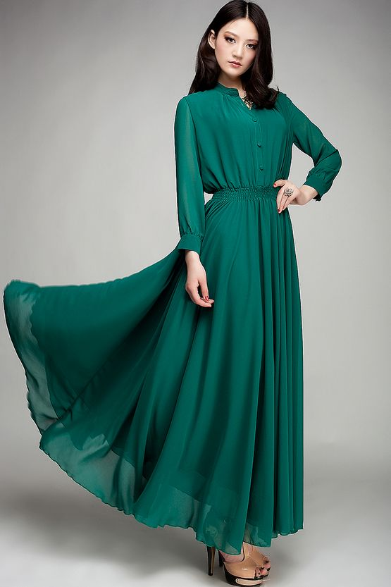 Long Sleeve Maxi Dress | Dressed Up Girl