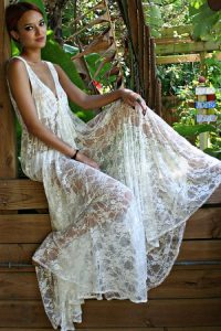 Maxi White Lace Dress