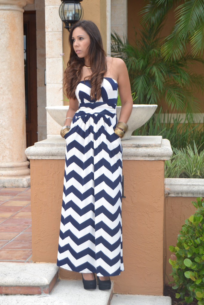 Navy Maxi Dress | Dressed Up Girl