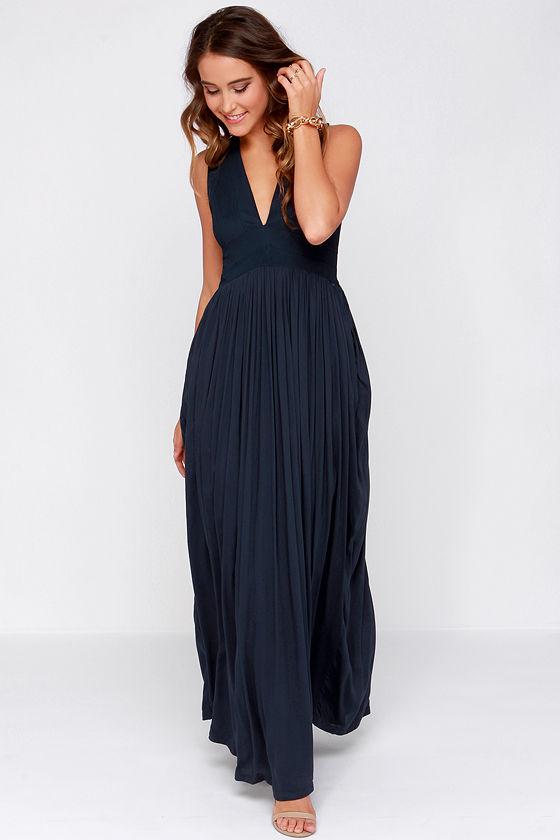 Navy Maxi Dress | Dressed Up Girl