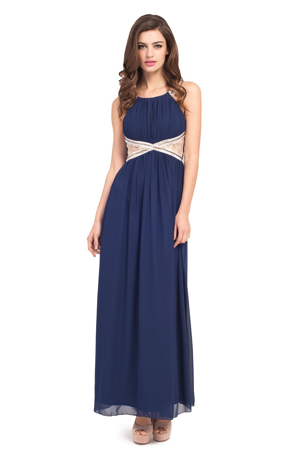Navy Maxi Dress Dressed Up Girl