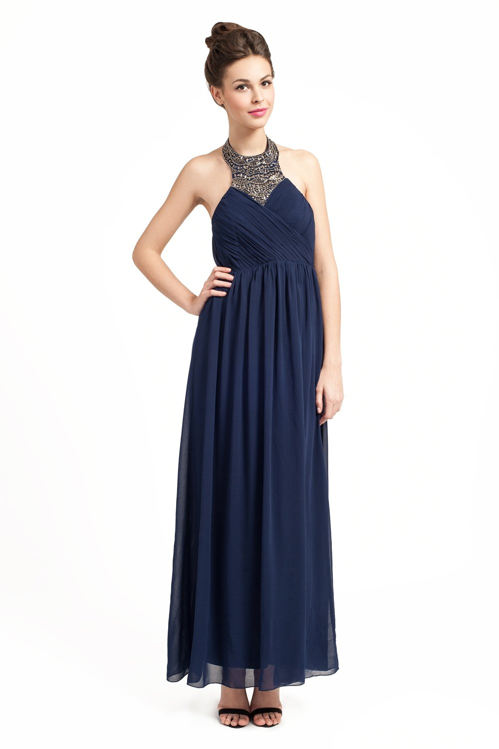 Navy Maxi Dress Dressedupgirl Com