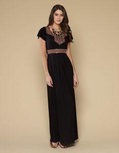 Petite Black Maxi Dress