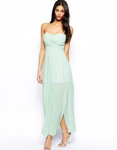 Pleated Chiffon Maxi Dress