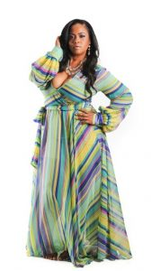 Plus Size Chiffon Maxi Dress