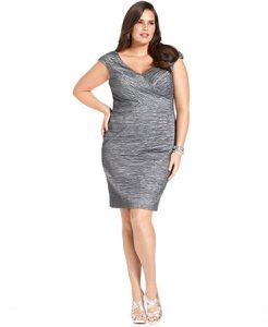 Plus Size Cocktail Dresses with Sleeves