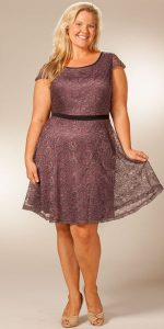 Plus Size Dress with Sleeves