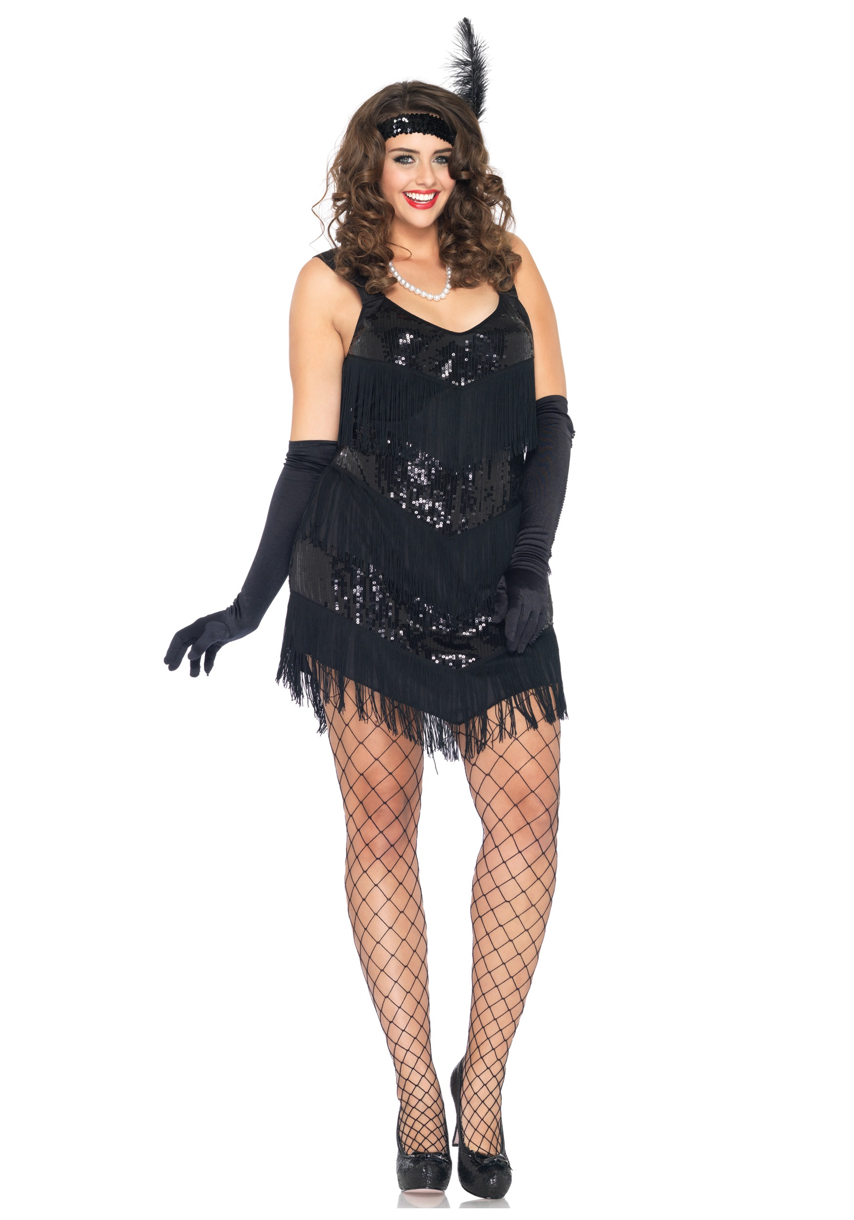Plus Size Flapper Dress Dressed Up Girl