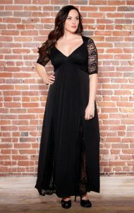 Plus Size Lace Dresses with Sleeves