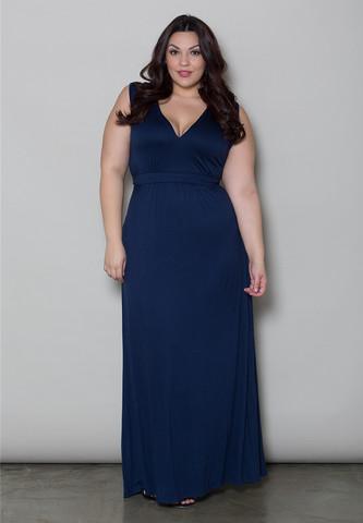 Navy Maxi Dress | DressedUpGirl.com