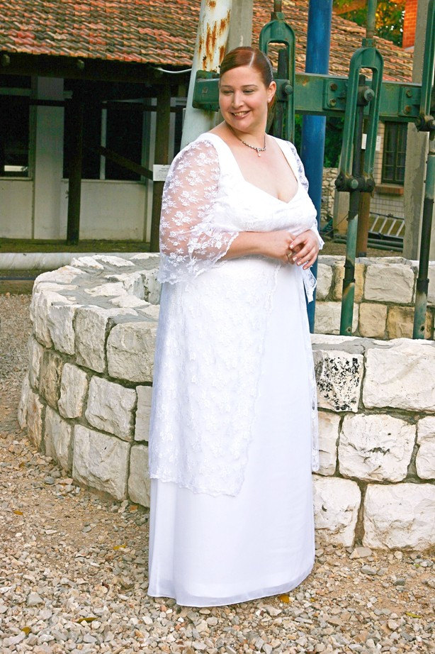 plus size retro wedding dress