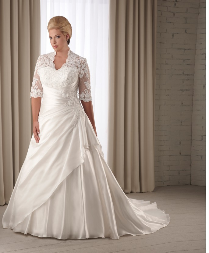 Wedding Dresses Plus Size Bristol : Plus size wedding dresses with sleeves dressed up girl