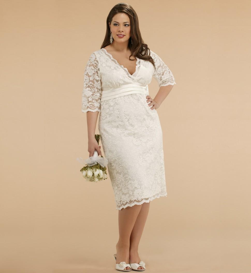 Plus Size Dresses with Sleeves | DressedUpGirl.com