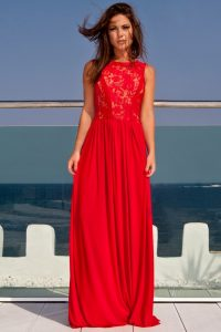 Red Maxi Evening Dress