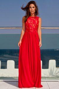 Red Maxi Evening Dress