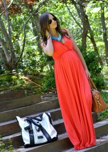 Red Maxi Maternity Dress