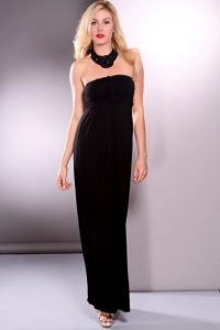 Strapless Black Maxi Dress