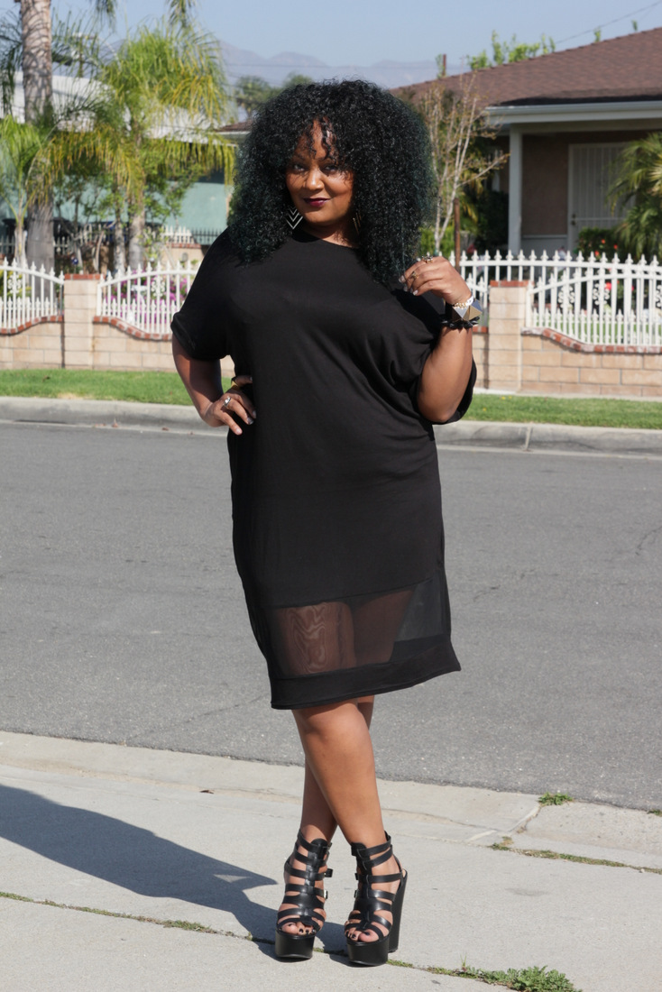 Plus Size Shirt Dress Dressed Up Girl
