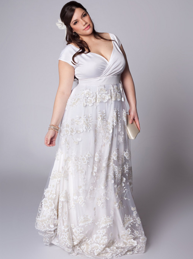 Plus Size Wedding Dresses with Sleeves | Dressed Up Girl