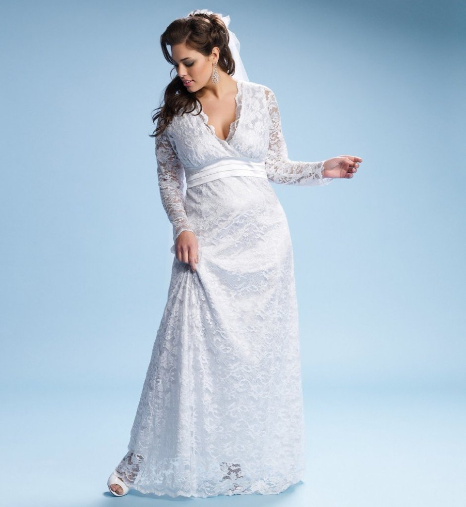 Plus size wedding dresses with sleeves dressed up girl for Wedding dresses without sleeves