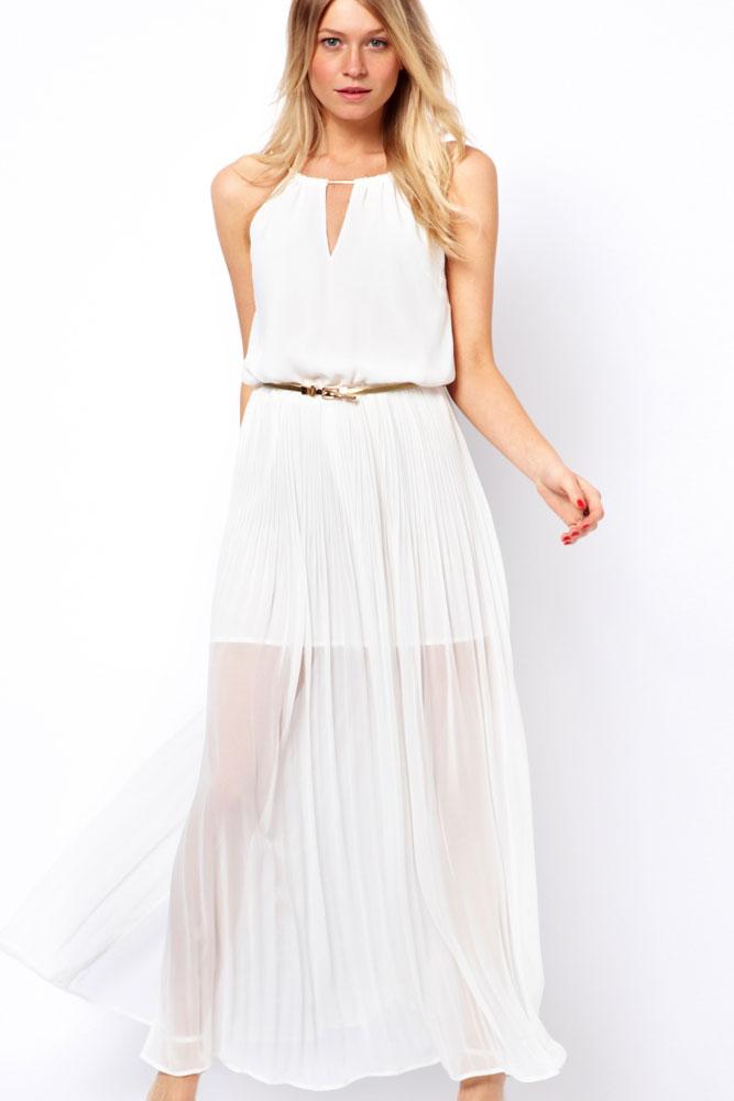 Cheap White Maxi Dress