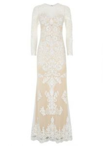 White Maxi Dress with Lace