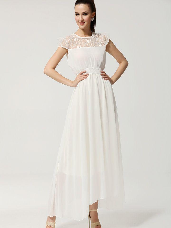 Plus Size White Maxi Dress