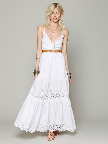 White Maxi Dress | Dressed Up Girl