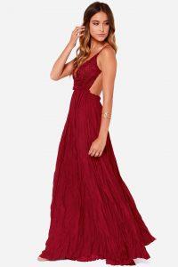 Backless Crochet Maxi Dress