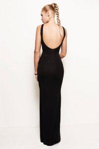Black Backless Maxi Dress