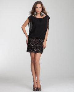 Black Drop Waist Cocktail Dress