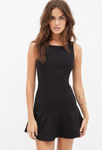 Black Drop Waist Dress Images