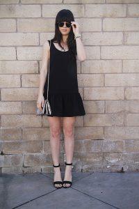 Black Drop Waist Dress Pictures