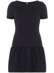 Black Drop Waist Dress with Sleeve