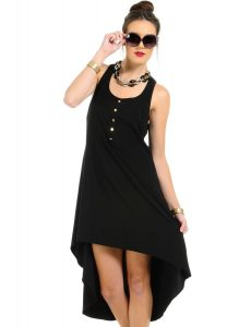 Black High Low Dress Formal