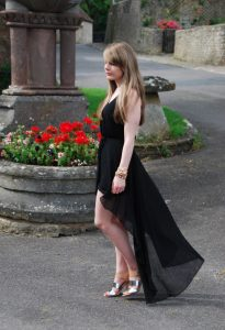 Black High Low Maxi Dress