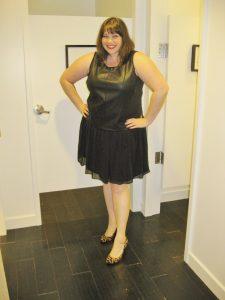 Black Plus Size Drop Waist Dress