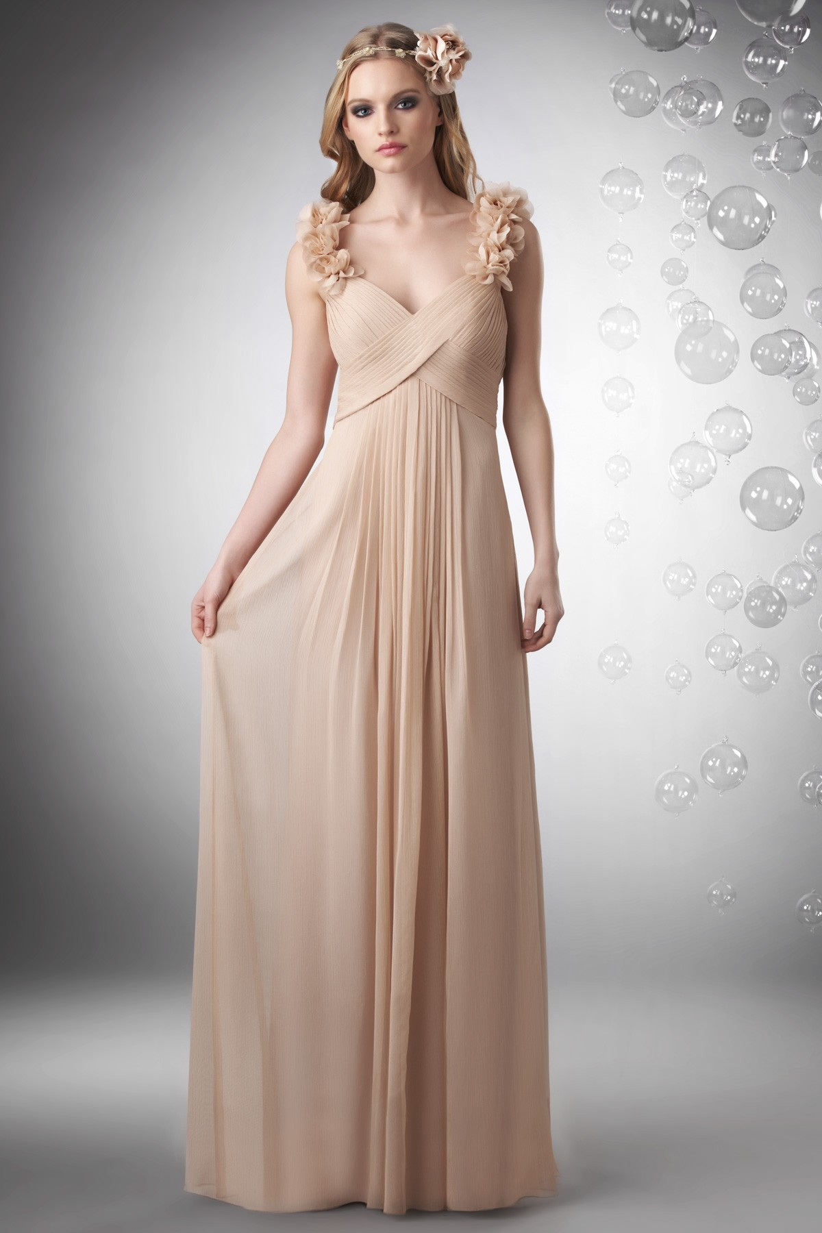 Champagne Chiffon Bridesmaid Dresses