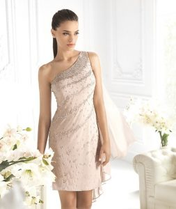 Champagne Chiffon Cocktail Dress